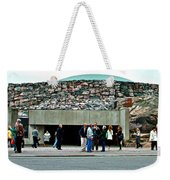 Entry To Church In The Rock In Helsinki-finland Weekender Tote Bag
