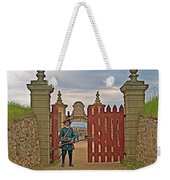 Entry To Fortress In Louisbourg Living History Museum-1744-ns Weekender Tote Bag