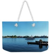 Epcot World Showcase Lagoon Panorama 01 Walt Disney World Weekender Tote Bag