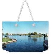 Epcot World Showcase Lagoon Panorama 05 Walt Disney World Weekender Tote Bag