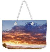 Epic Colorado Country Sunset Landscape Weekender Tote Bag