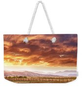 Epic Colorado Country Sunset Landscape Panorama Weekender Tote Bag