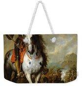 Equestrian Portrait Of Prince Eugene De Savoie 1663-1736 C.1700-10 Oil On Panel Weekender Tote Bag