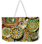 Erice Sicily Plates Yellow Weekender Tote Bag