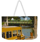 Erie Canal At Pittsford Ny Weekender Tote Bag