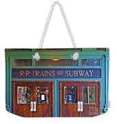 Erie Lackawanna Terminal Doors Hoboken Weekender Tote Bag