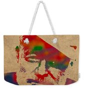 Ernest Hemingway Watercolor Portrait On Worn Distressed Canvas Weekender Tote Bag