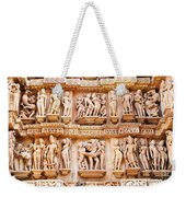 Erotic Human Sculptures Khajuraho India Weekender Tote Bag
