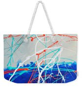 Erupting Blues Weekender Tote Bag