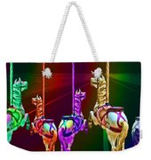 Escape Of The Carousel Horses Weekender Tote Bag