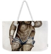 Eskimo Woman And Baby Native American Weekender Tote Bag
