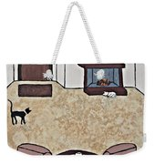 Essence Of Home - Black And White Cat In Living Room Weekender Tote Bag