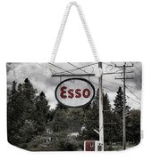 Esso Sign And Pump Weekender Tote Bag