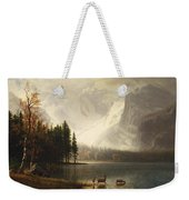 Estes Park Colorado Whytes Lake Weekender Tote Bag