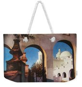 Esther Henderson Photo Back North Entrance  Of San Xavier Mission Tucson Arizona 1957-2013  Weekender Tote Bag