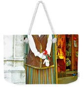 Estonian Greeter In Old Town Tallinn-estonia Weekender Tote Bag