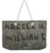 Etched In Wood Weekender Tote Bag