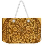 Eternity Mandala Leather Weekender Tote Bag