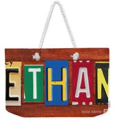 Ethan License Plate Name Sign Fun Kid Room Decor. Weekender Tote Bag