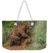 Eurasian Brown Bear 21 Weekender Tote Bag