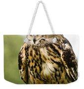 Eurasian Eagle Owl On Log Weekender Tote Bag