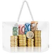Euro Currency Weekender Tote Bag