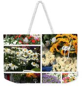European Flower Market Collage Weekender Tote Bag