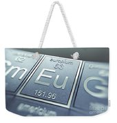 Europium Chemical Element Weekender Tote Bag