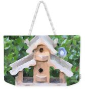 Evans's Birdhouse - Oil Paint Weekender Tote Bag