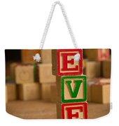 Eve - Alphabet Blocks Weekender Tote Bag
