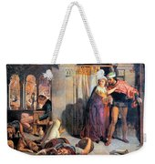 Eve Of Saint Agnes The Flight Of Madelein The Drunkenness Attending The Revelry Weekender Tote Bag
