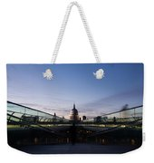 Even The Clouds Aligned With St Paul's Cathedral And The Millennium Bridge - London Weekender Tote Bag
