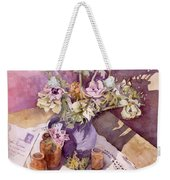 Evening Anemones Weekender Tote Bag by Julia Rowntree
