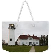 Evening At Chatham  Lighthouse Weekender Tote Bag