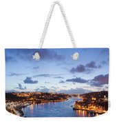 Evening At Douro River In Portugal Weekender Tote Bag