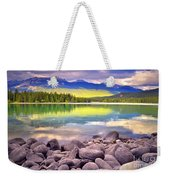 Evening At Lake Annette Weekender Tote Bag