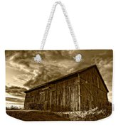 Evening Barn Sepia Weekender Tote Bag