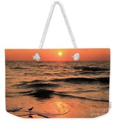 Evening Beach Stroll Weekender Tote Bag by Adam Jewell