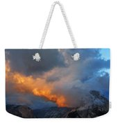 Evening Clouds And Half Dome At Yosemite Weekender Tote Bag