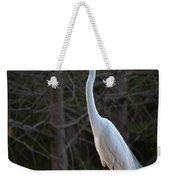 Evening Egret 2 Vertical Weekender Tote Bag
