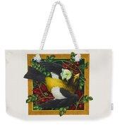 Evening Grosbeak Weekender Tote Bag