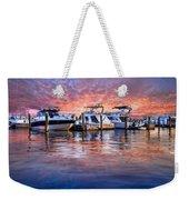 Evening Harbor Weekender Tote Bag