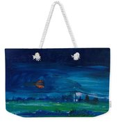Evening Landscape Oil On Canvas Weekender Tote Bag