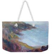 Evening Light On The Oregon Coast - Original Impressionist Oil Painting - Plein Air Weekender Tote Bag
