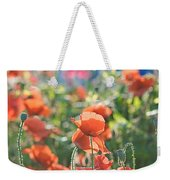 Evening Lights The Poppies Weekender Tote Bag