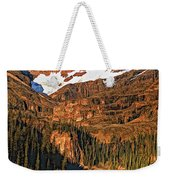 Evening On The Great Divide Painted Weekender Tote Bag