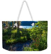 Evening Shadows At Lake George Weekender Tote Bag