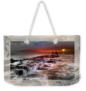 Evening Stroll At The Beach -featured In 'cards For All Occasions'comfortable Art'  'digital Veil Weekender Tote Bag