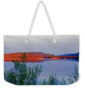 Evening Sun Glow On Calm Twin Lakes Yukon Canada Weekender Tote Bag