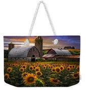 Evening Sunflowers Weekender Tote Bag